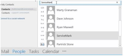how to add contact to speed dial from microsoft outlook